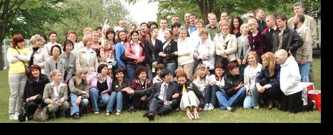 ロシアの友人達と:新潟市民芸術文化会館前にて